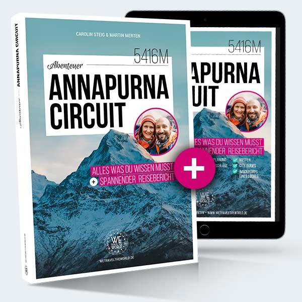 Annapurna Circuit Reiseführer Taschenbuch + E-Book